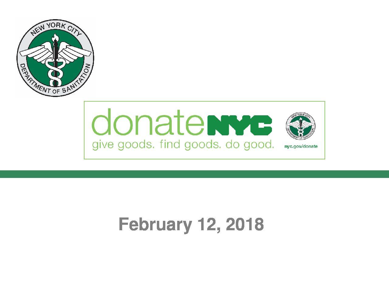 DonateNYC Presentation 2-12-2018
